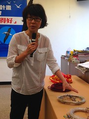 南華大學助理教授葉裕民說明支繩加重的原理。