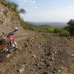 The road down continues to be tricky, near Logumgum, Kenya
