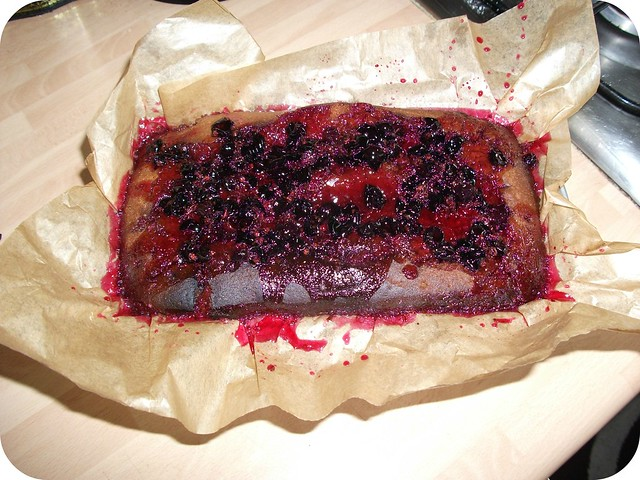 Blackcurrant Drizzle Cake
