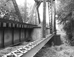 UP Railroad Bridge over West Navidad River, Schulenburg, Texas 1406281020bw