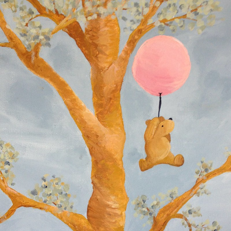 Winnie The Pooh in the Honey Tree
