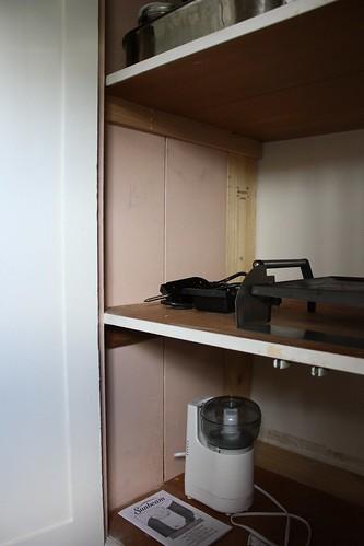 Pink Powder Room Cabinet