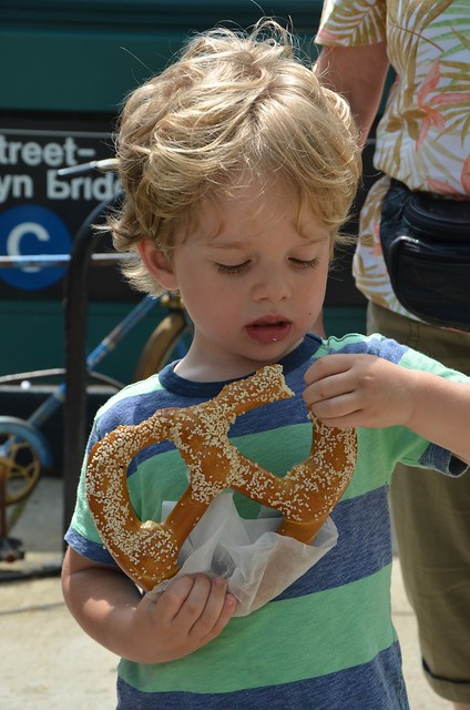 Everett And The Giant Pretzel Flickr Photo Sharing