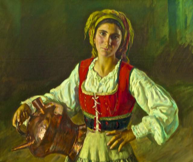 Photo:Girl from Galicia (undated) - Henrique Medina (1901 - 1988) By pedrosimoes7