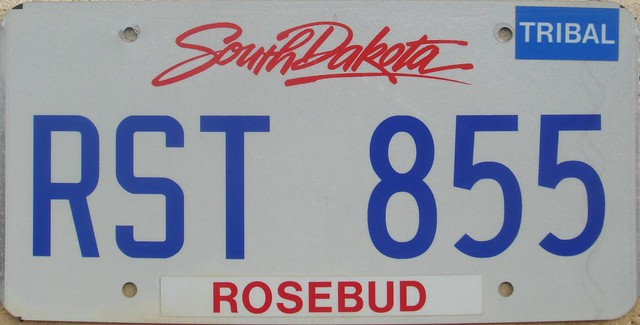 Rosebud Sioux Tribe Government Flat License Plate