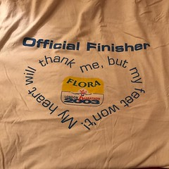 Probably time to throw this one out, not sure keeping gym t shirts for 13 years is hygienic #marathon #2003