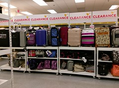 Big back clearance wall (behind the luggage)