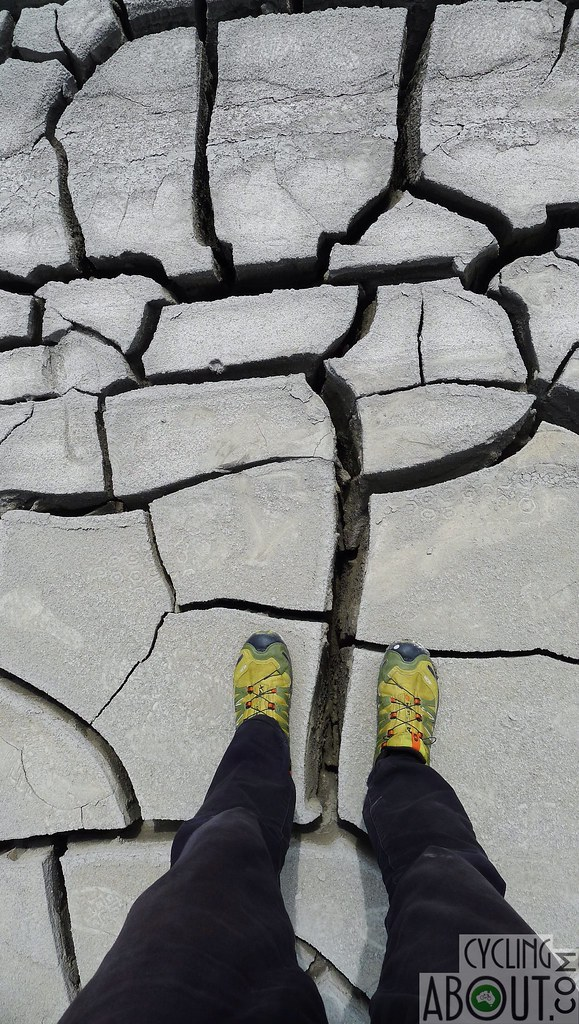 Qobustan mud volcano cracks