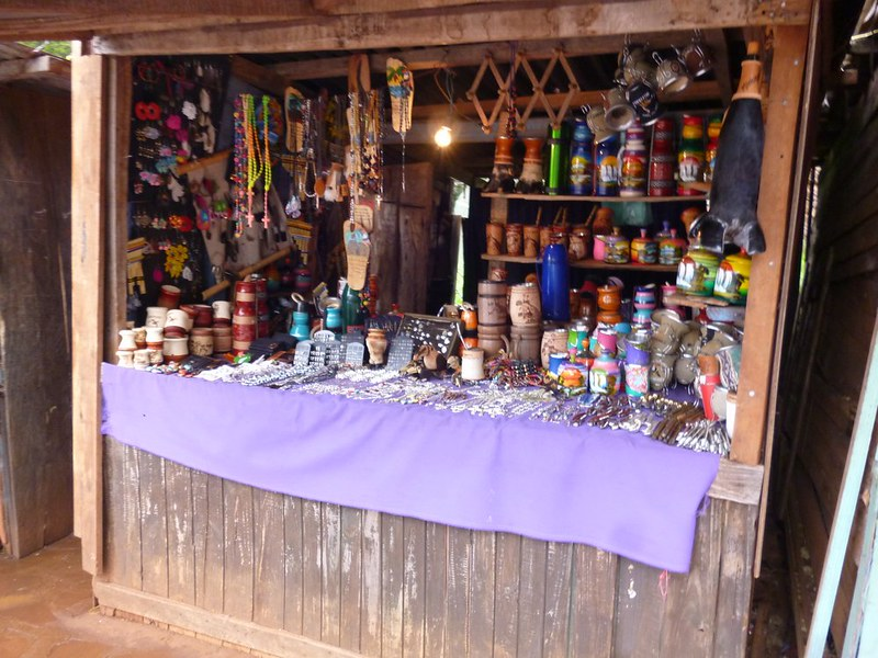 Souvenir stalls at San Ignacio