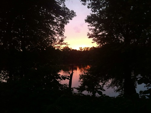 Sunset over the Potomac in Dickerson