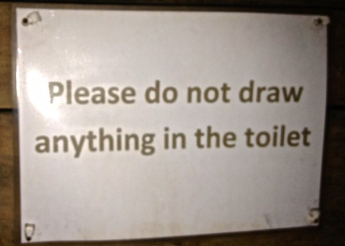 #lostInTranslation: Please do not draw anything in the toilet