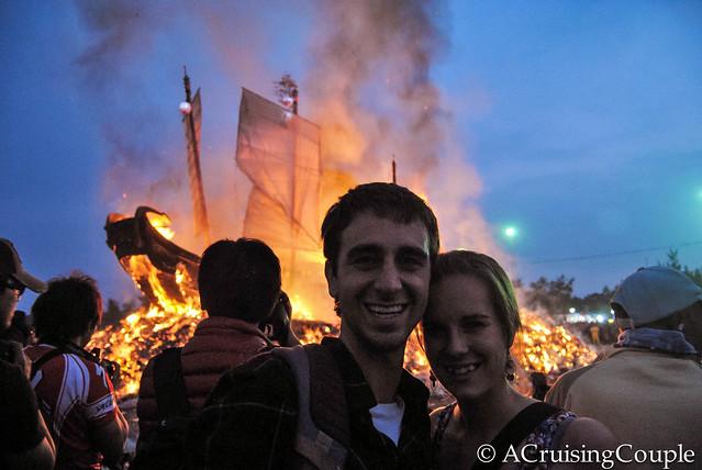 A Cruising Couple Boat Burning Festival