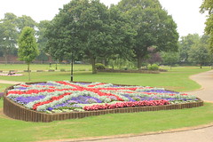 union jack flower bed