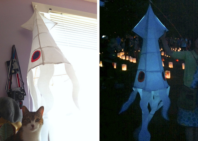Squid Paper Lantern