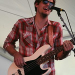 Houndmouth brings a crowd to the Harbor stage on Saturday. Photo by Laura Fedele