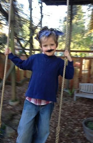 moustachioed