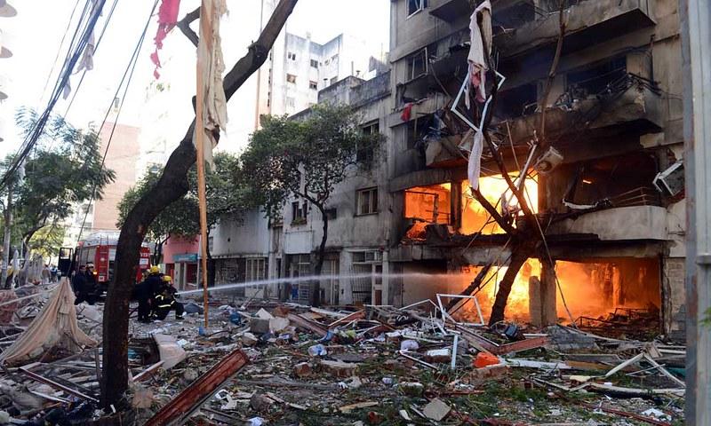 Explota edificio en Argentina