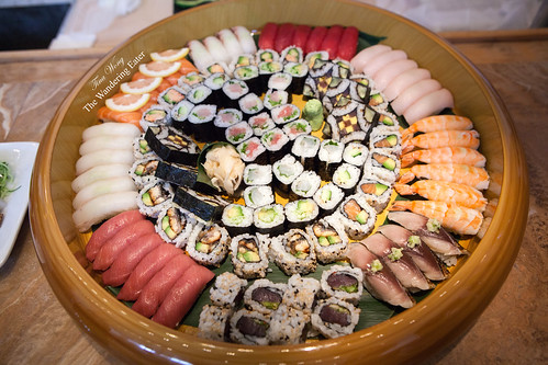 The ginormous sushi platter by Chef Masaharu Morimoto