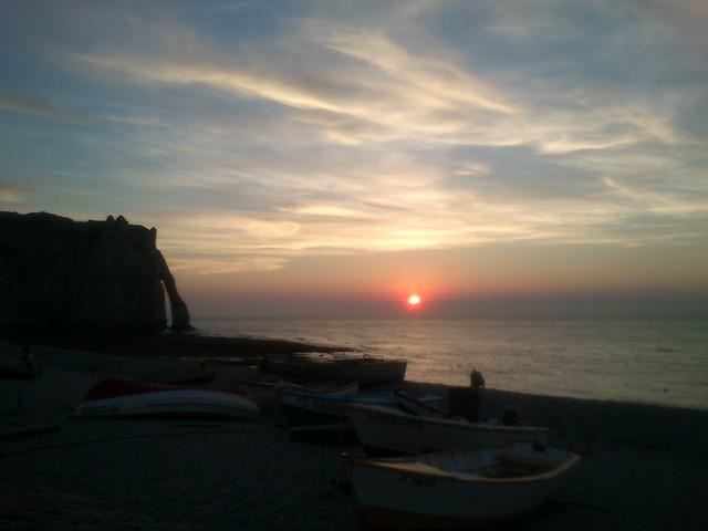 Normandy Holidays Homework #4 - Etretat sunset saying hi to Monet