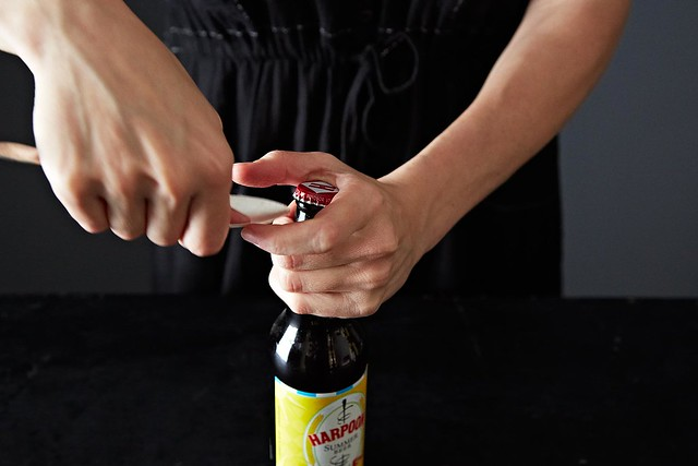 Opening a beer from Food52