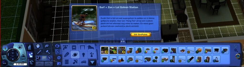 De Sims 3 in-game shopmodus premiummateriaal los aanschaffen