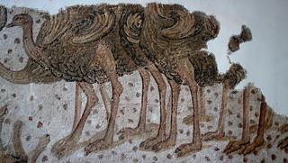Ostriches mosaic