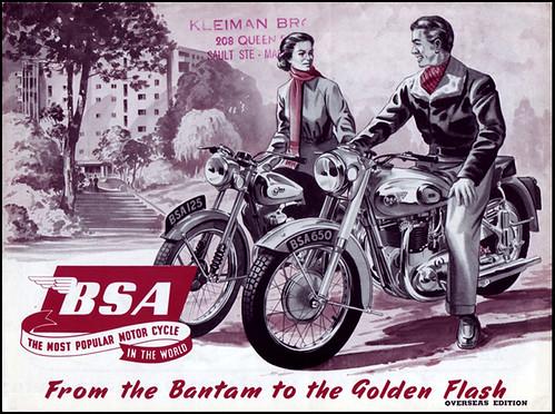 1954 BSA Brochure Cover by bullittmcqueen