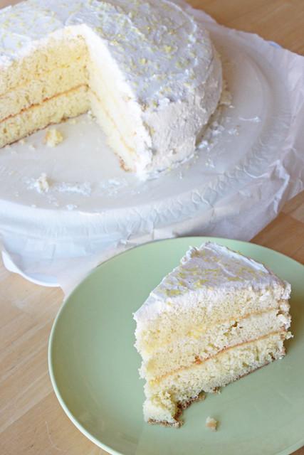 Meyer Lemon Chiffon Cake For Big Pan