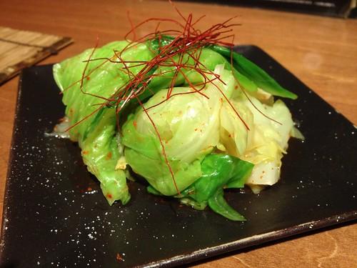 有機キャベツのアリアン漬け@九州料理 流