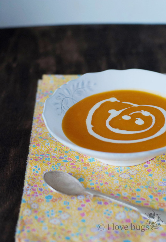 Crema de zanahoria y calabaza