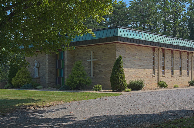 Saint Anthony Roman Catholic Church, in Glennon, Missouri, USA - exterior