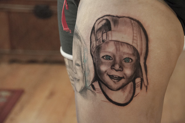 Little kid portrait tattoo flickr photo sharing for Little kid tattoos