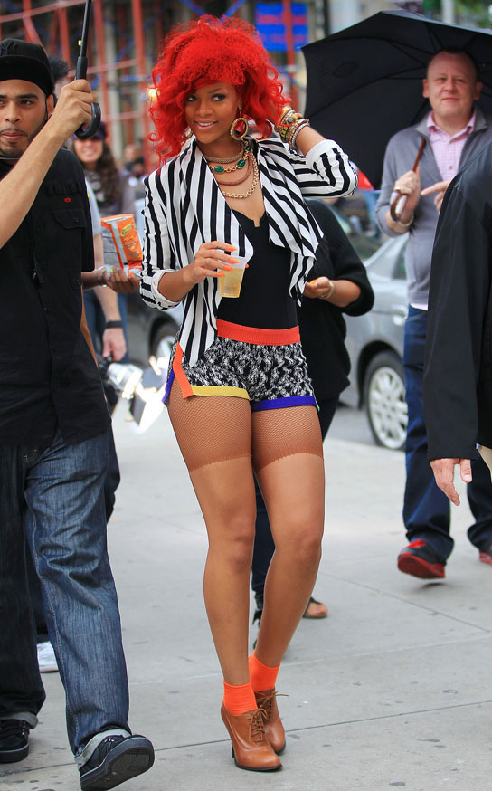 Rihanna shoots music video on the lower east side in NYC