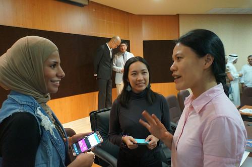 兩國青年氣候聯盟志工相見歡。