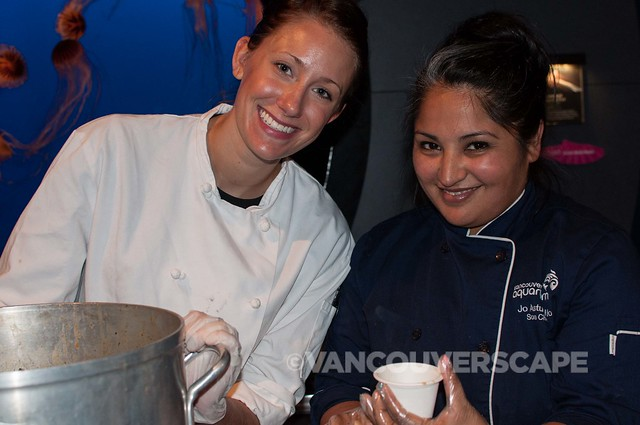 Team Vancouver Aquarium with Chef Jo Astudillo