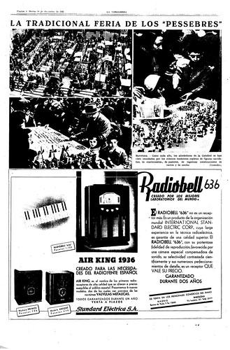 Fira de Santa Llúcia, Barcelona, diciembre de 1935, suplemento de La Vanguardia de 10 de diciembre de 1935, foto: Agustí Centelles by Octavi Centelles