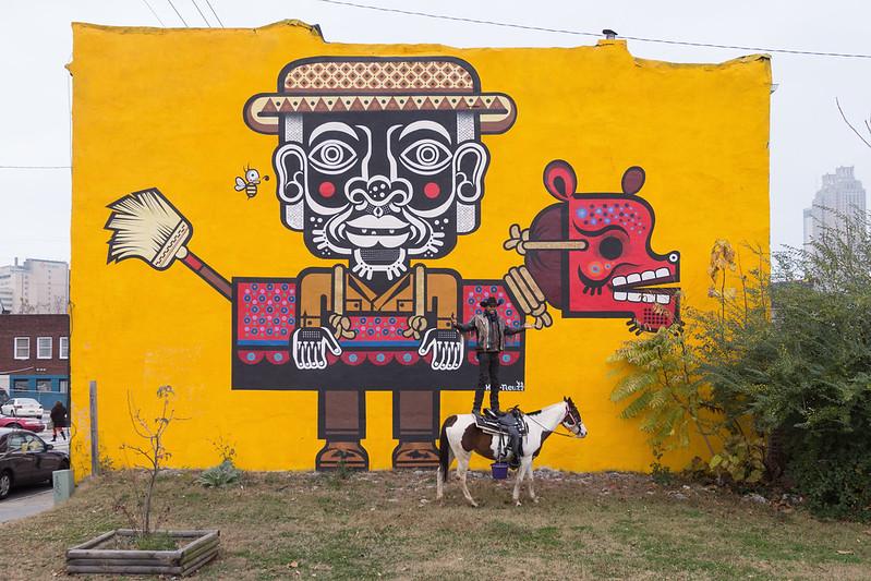 Urban Cowboy and Mural