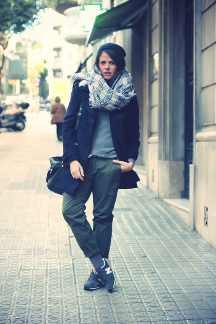 Look Green Baggy pants + Maxi scarf - Monicositas