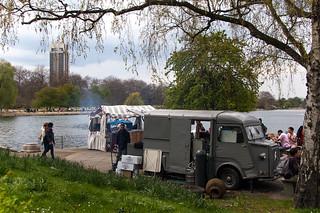Café au bord de Serpentine Lake, Hyde Park