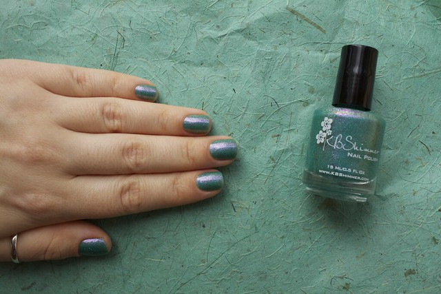 10 KBShimmer Teal Another Tail with 2 coats Eva Mosaic topcoat