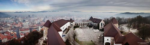 winter panorama castle canon vinter europa europe january slovenia ljubljana slovenija grad canonef2470mmf28lusm castlehill januar ljubljanski 5dmk2 eos5dmkii grajskigrič
