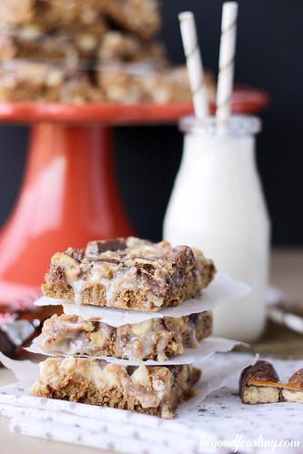 Gooey Gingerbread Twix Bars | beyond frosting.com | #gingerbread #twix