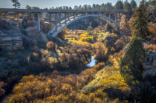 park bridge landscape colorado state canyon castlewood afsdxvrzoomnikkor18105mmf3556ged