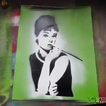 Alternative Berlin Street Art Workshop, Audrey's Stencil - Berlin
