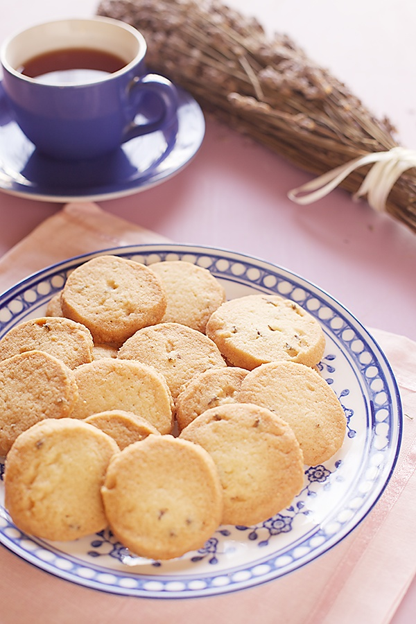 Eggless Lavender Biscuits/Cookies