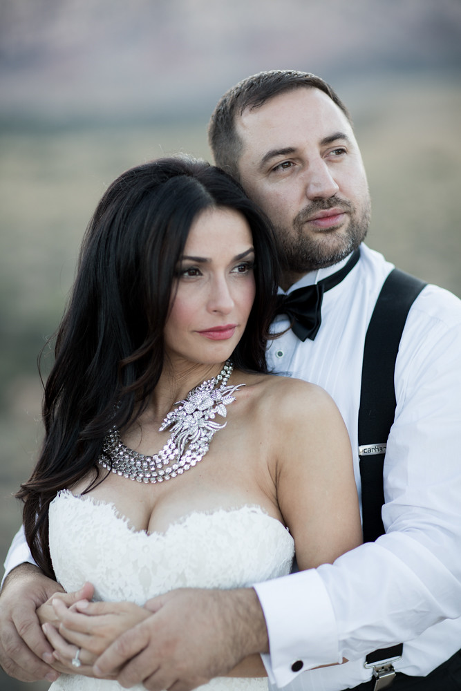 haute couture bridal necklace, glam Vegas wedding, desert wedding photography