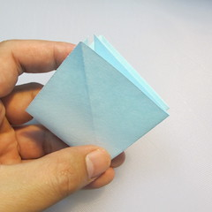 การพับกระดาษรูปดอกมอร์นิ้งกลอรี่ (Origami Morning Glory – アサガオの折り紙) 004