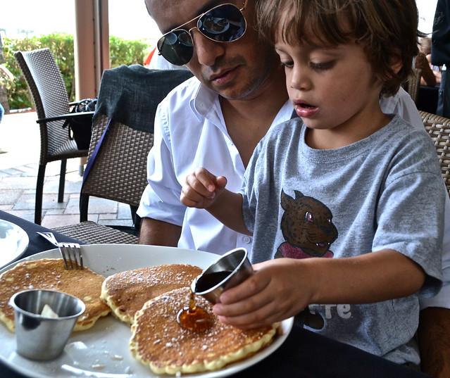 pancakes at Oceans 234 restaurant, Deerfield Beach, Florida