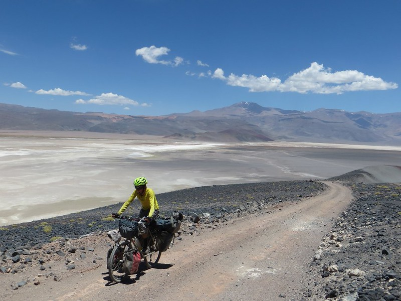 Climbing above the Salar de Antofalla