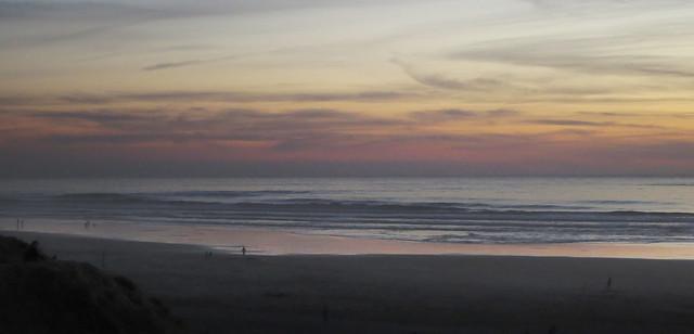 Ocean Beach at sunset, San Francisco (2014)